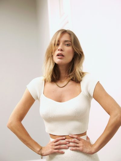 TOP HOLLY – Ivory & Coffe